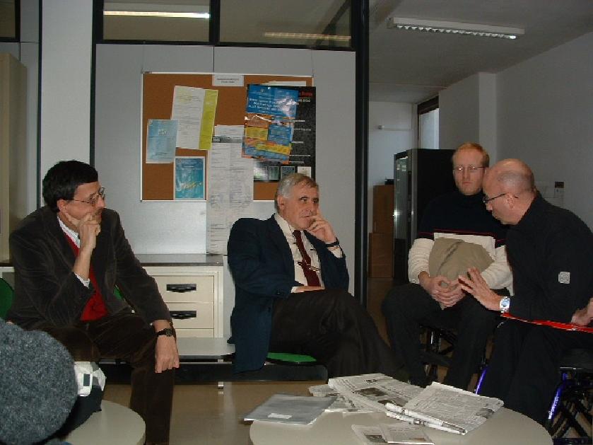 foto prof. Andrea Nistri, prof. Stefano Fantoni, dott. Giuliano Taccola, dott. Sebastiano  Marchesan