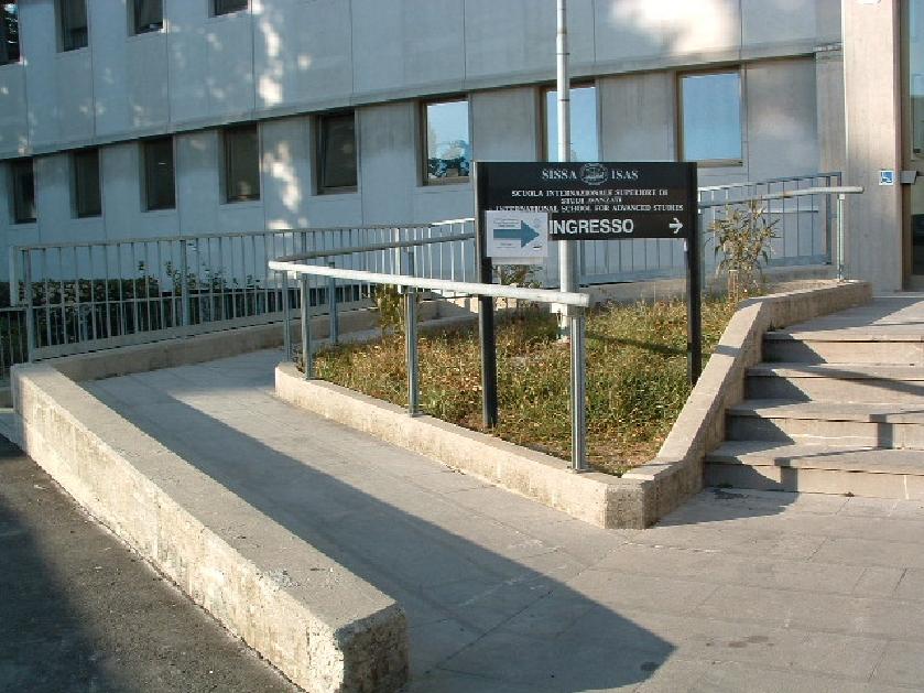 foto rampa ingresso della SISSA