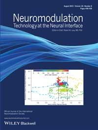 Copertina di un numero di Neuromodulation